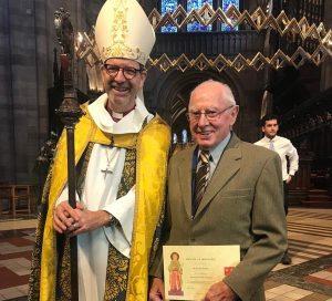 Roland Watkins and Bishop Richard